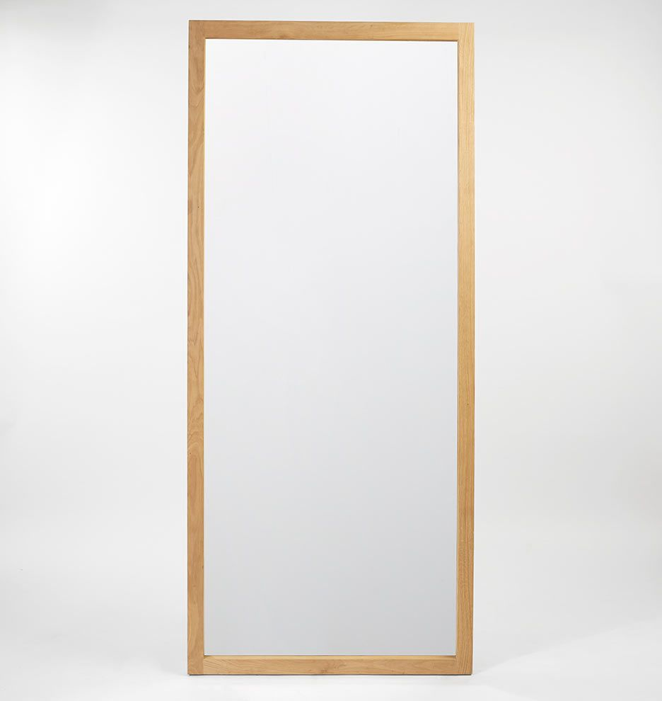 Classic Wood Frame Floor Mirror Solid White Oak | Rejuvination ...