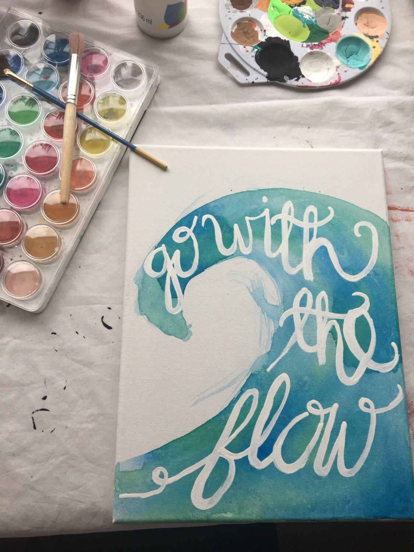 Ocean wave canvas, custom canvas, canvas wall art, canvas