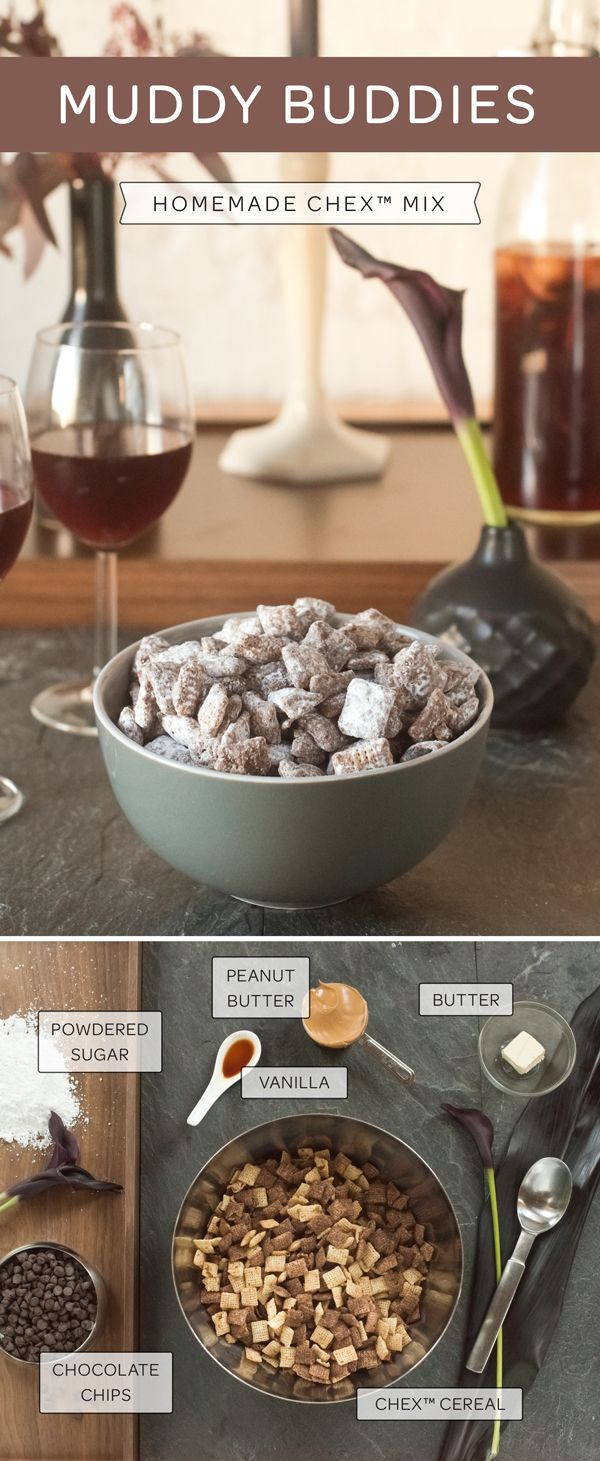 The snack that people fight over: Muddy Buddies! Melt butter, peanut butter and chocolate chips together. Then stir in vanilla and coat Chex Cereal with the chocolate mix. Shake with powdered sugar and spread out on wax paper or aluminum foil to dry and set. Then enjoy quite possibly the best cereal snack out there. But we would say that ;)