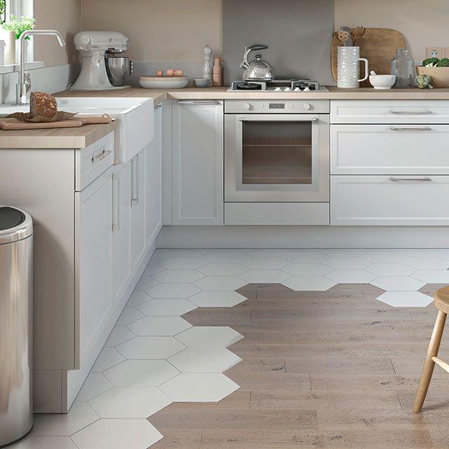 Carrelage sol et mur blanc 25,8 x 29 cm Kanya - CASTORAMA Kitchen - peindre du carrelage de sol