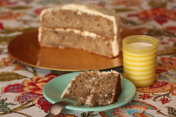 Banana Rum Cake with Brown Butter Icing