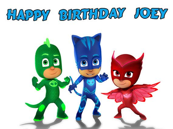 P J Masks Edible Cake Topper with FREE by DolceCakeToppers ...