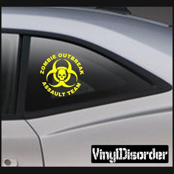 Zombie Response Team KC10 Assault Team Vinyl Decal Car or Wall Sticker Mural