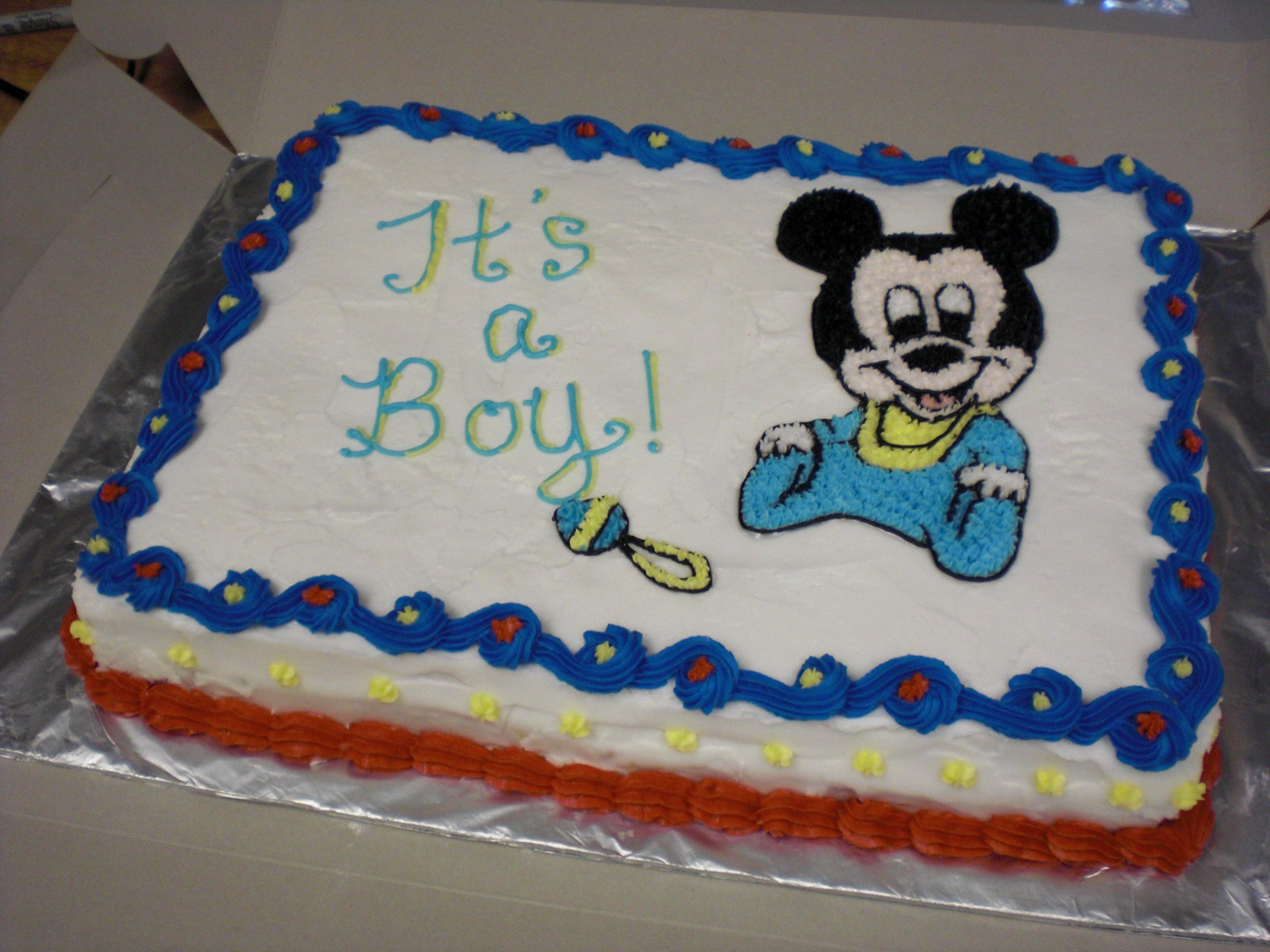 Mickey Mouse baby shower cake Bb