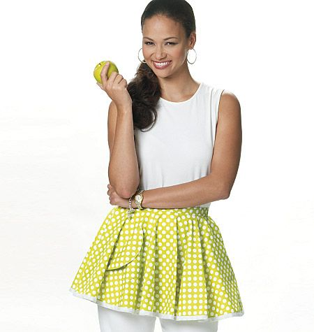 Love the fullness of this apron and bias cut gingham