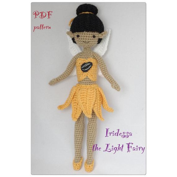 PDF - Iridessa the Light Fairy amigurumi doll crochet pattern
