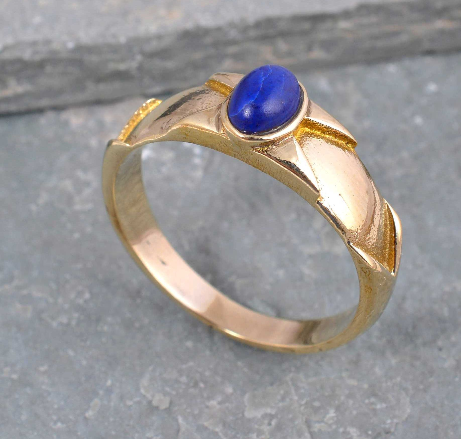 Natural Golden rutile Ring Bold Statement Piece high quality fashion jewelry 92.5 Sterling Silver Ring
