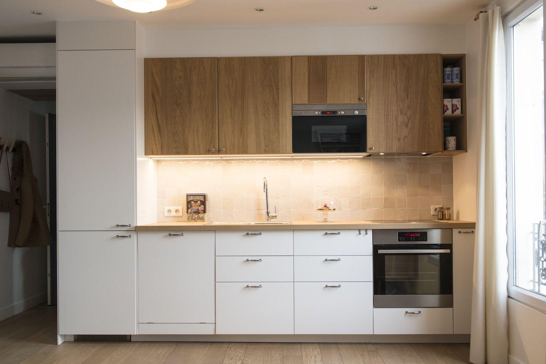 Smeg Kühlschrank Knallt : Une cuisine ikea déco et fonctionnelle : un 34 m² lumineux et bourré