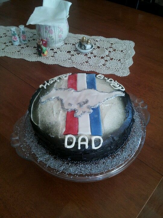 Mustang cake that I made for my Dad...