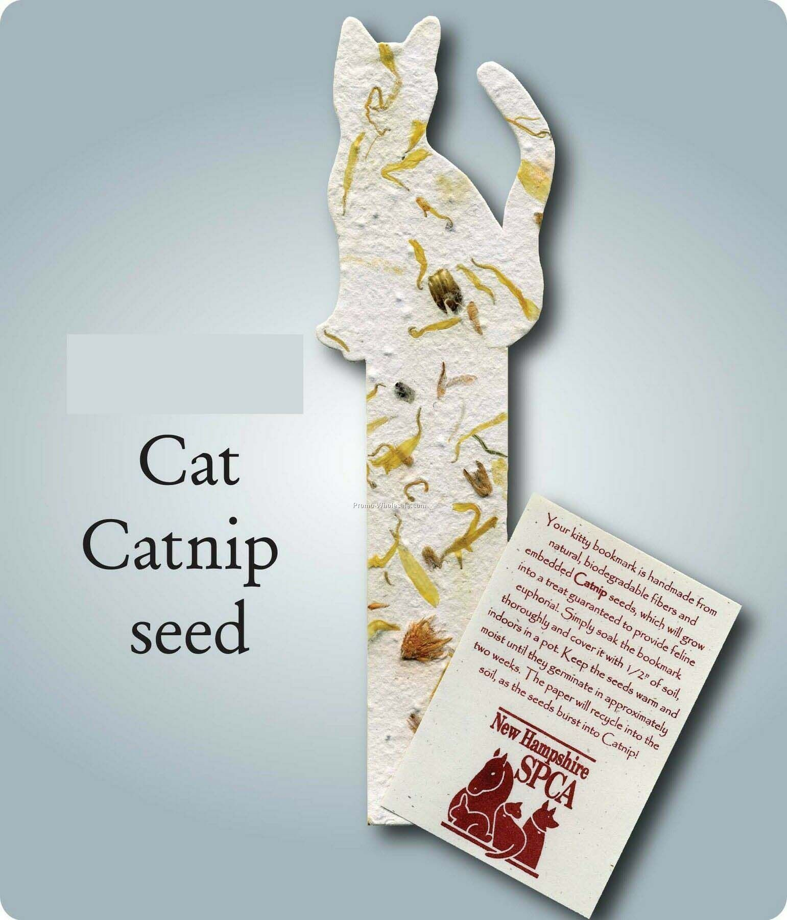 Cat Bookmark Embedded W Catnip Seed Bookmarks Pinterest Bookmarks