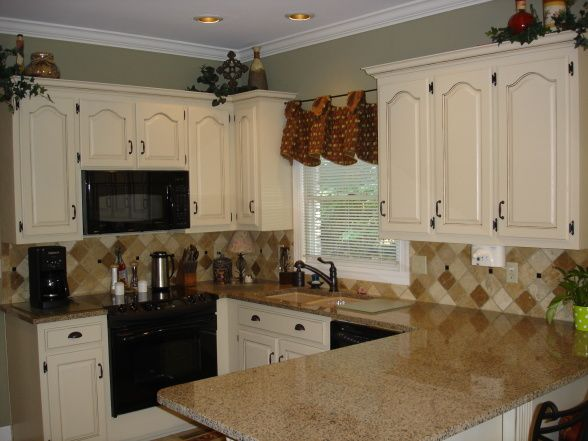 An Updated Mocha Glazed Kitchen Cabinet Paint Softer Tan By