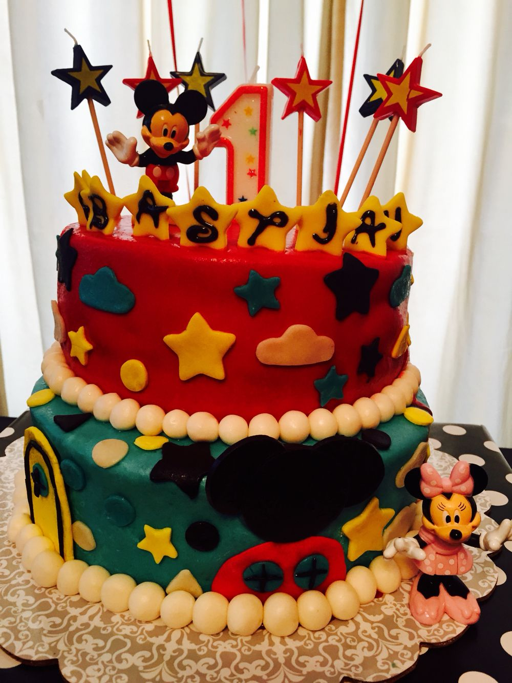 Sebastians Mickey Birthday Cake Made By Zeba Ramos Cakes How To Make