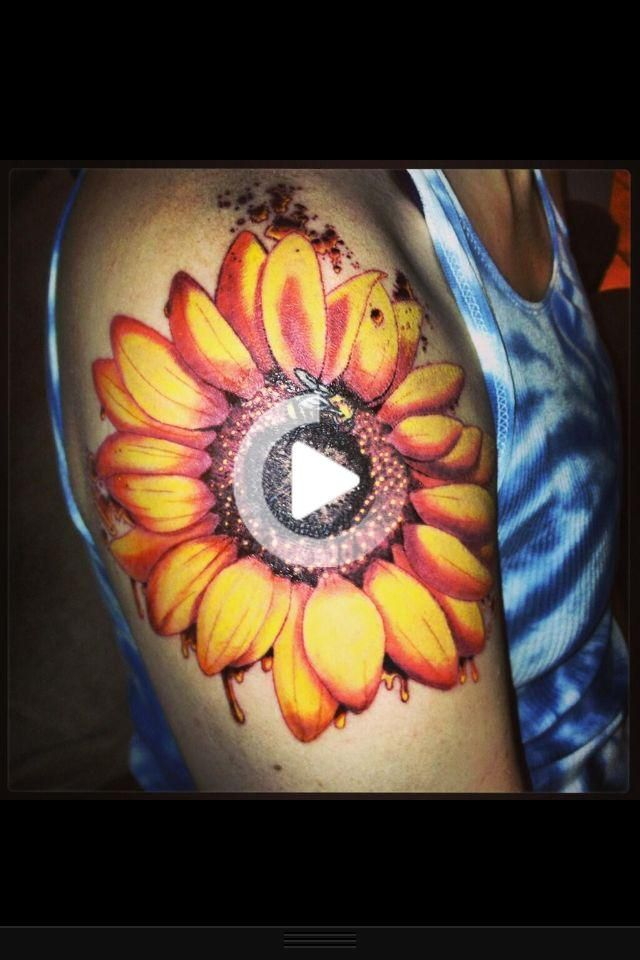 Sunflower Tattoo by Nick Potter So happy to have something so beautifu