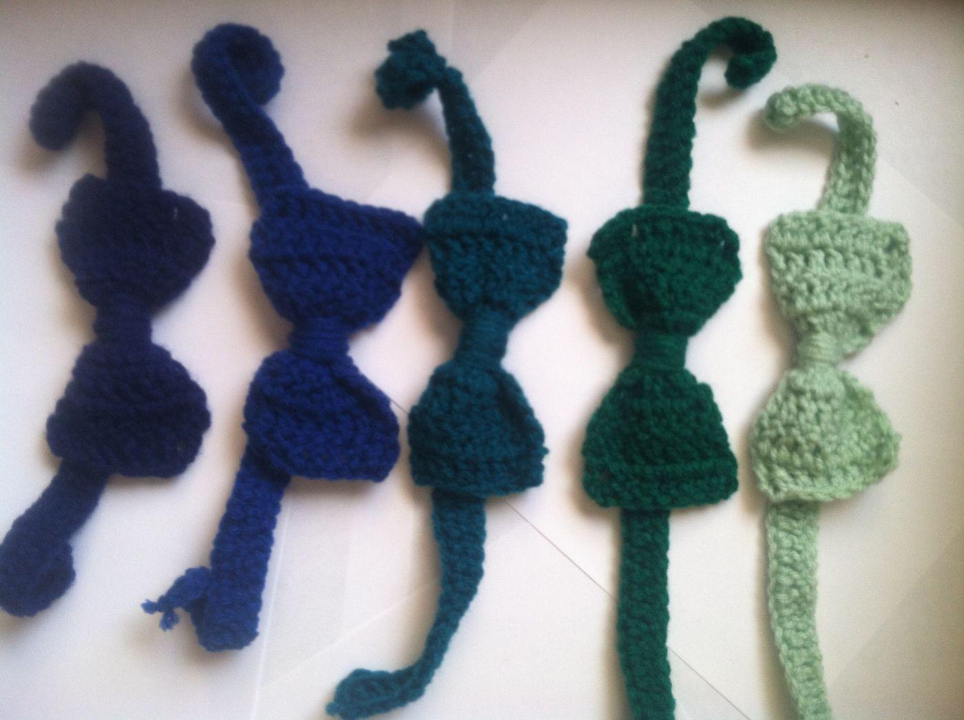 Crochet necktie and bow tie pattern   Crochet bow ties ...