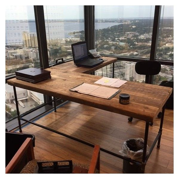 Office desk in l shape made with with pipe legs or square steel legs office desk in l shape made with with pipe legs or square steel legs solutioingenieria Images