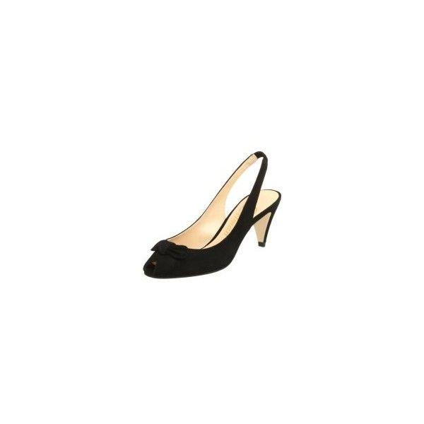1588c4c0e81 Shop Delman Women's Aloha-S Mid Heel Peep Toe Slingback,Black,7.5 as ...