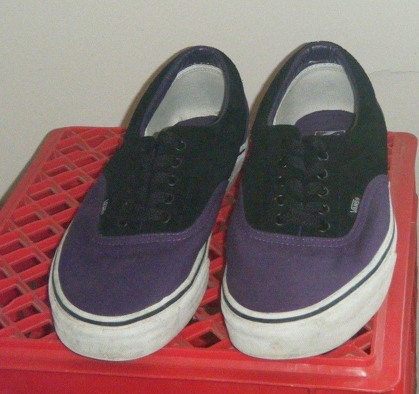 18977e80e7 Vans Off The Wall Classic Sneakers Men s Sz 12 Purple Black Canvas Shoes  Used  VANS  AthleticSneakers