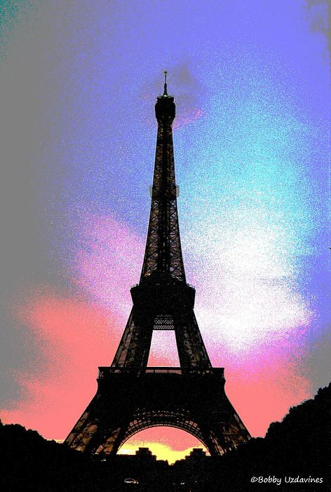 Check this out at http://bobby-uzdavines.artistwebsites.com/featured/eiffel-tower-in-color-bobby-uzdavines.html