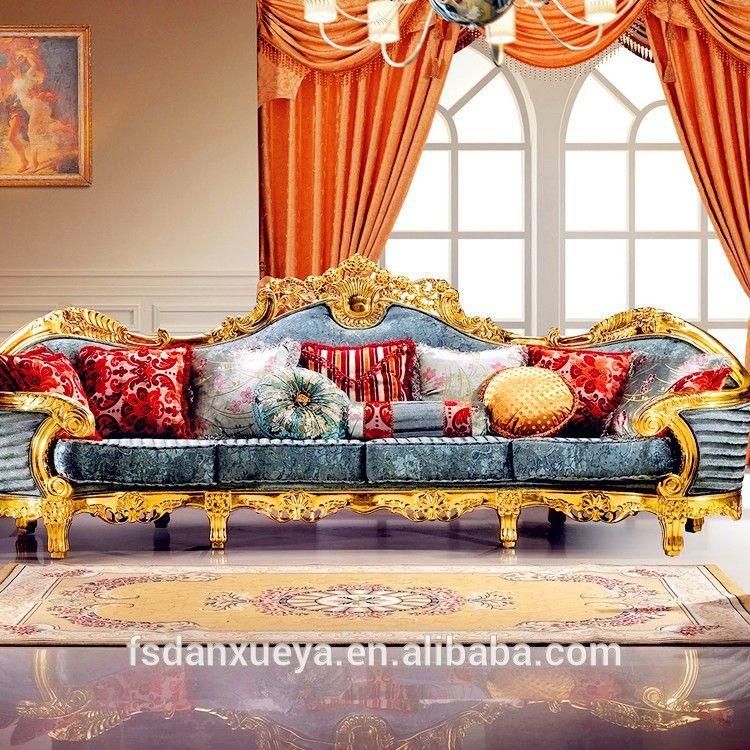 Danxueya Luxury European Baroque Style Luxury Living Room Sofa Set French Royal Palace Wood Car Living Room Sofa Set Luxury Sofa Living Room Luxury Living Room