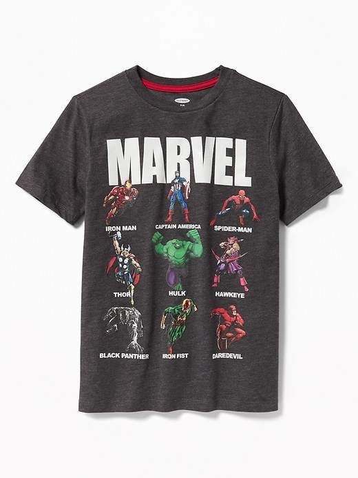 Old Navy Marvel Avengers Glow In The Dark Graphic Tee For Boys