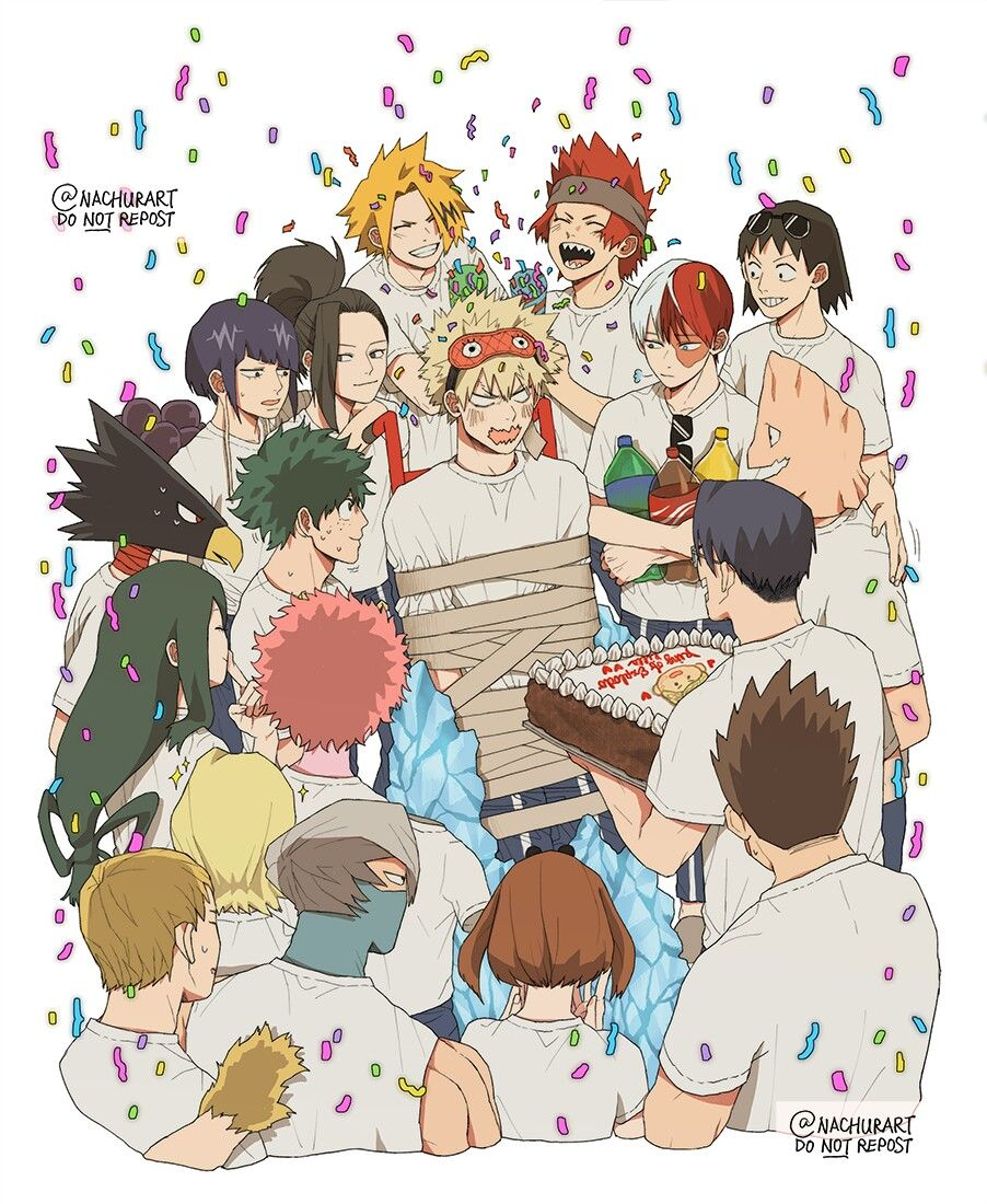 Bakugou's birthday party  Well    He was force, but good effort