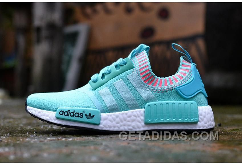 pretty nice c8ebf e815e ADIDAS NMD RUNNER WOMEN BLUE WHITE SHOES SUPER DEALS Only  88.00 , Free  Shipping!