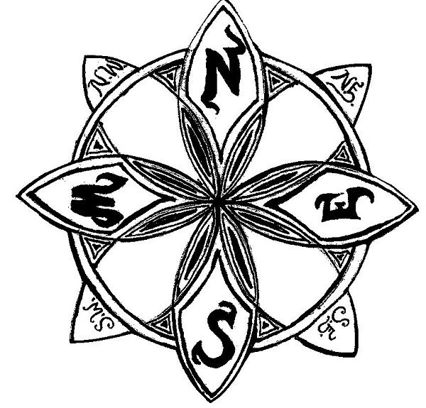 Compass Rose Coloring Pages Print