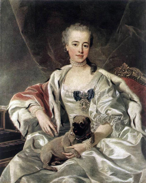 Louis Michel Van Loo Portrait of Catherina Golitsyna Oil Painting – Oil Paintings For Sale