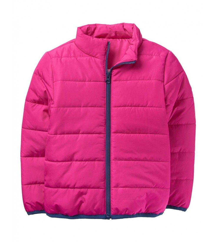 Girls Long Sleeve Zip Puffer Jacket Berry Cg187yiryxi Size Small Girls Puffer Jacket Girls Long Sleeve Girl Sleeves [ 1112 x 1000 Pixel ]