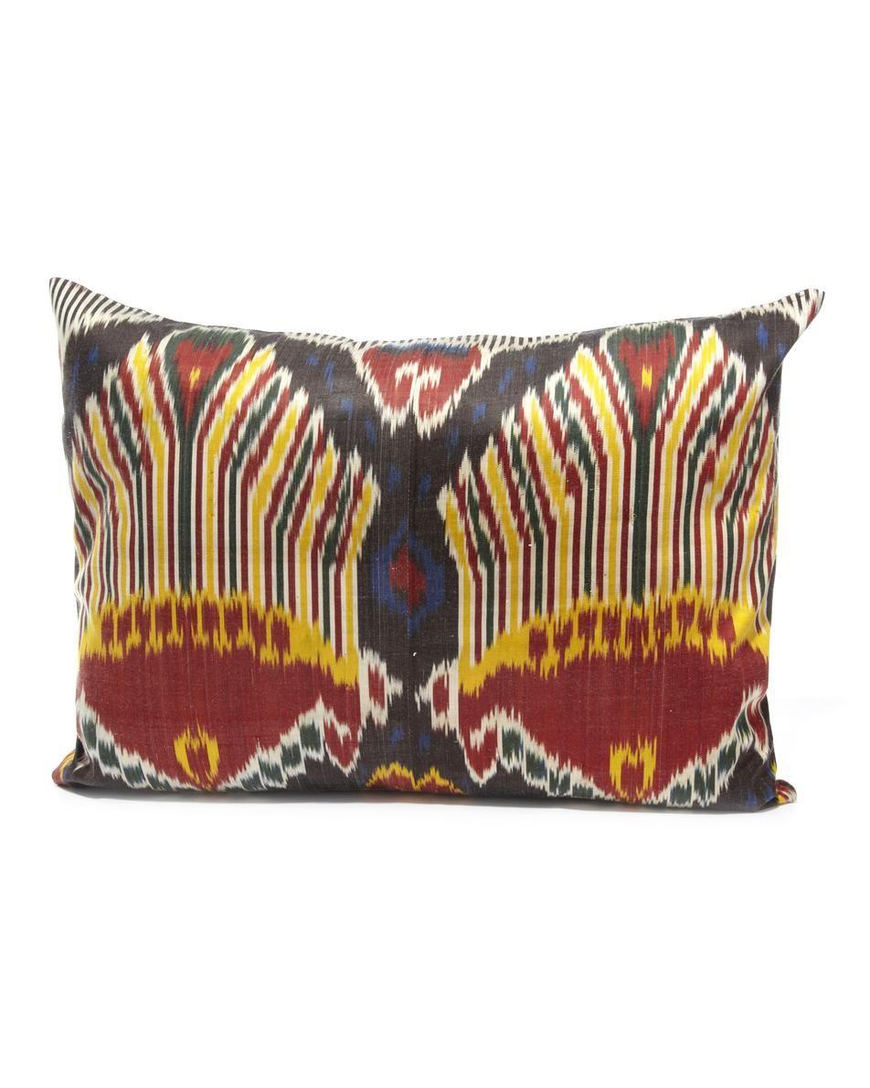 #outdoors Medium Ikat Cushion £294.00 Yastik by Rifat Ozbek at COUTURELAB