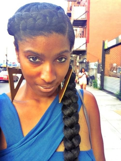 hair styles for lil black goddess crown braid can be done with or without 7727