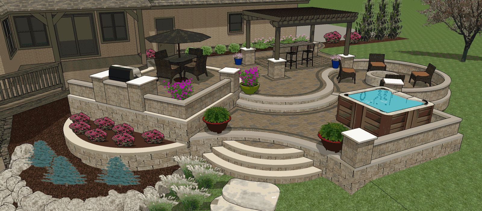Patio Layout Designs Affordable Patio Designs For Your Backyard Mypatiodesign