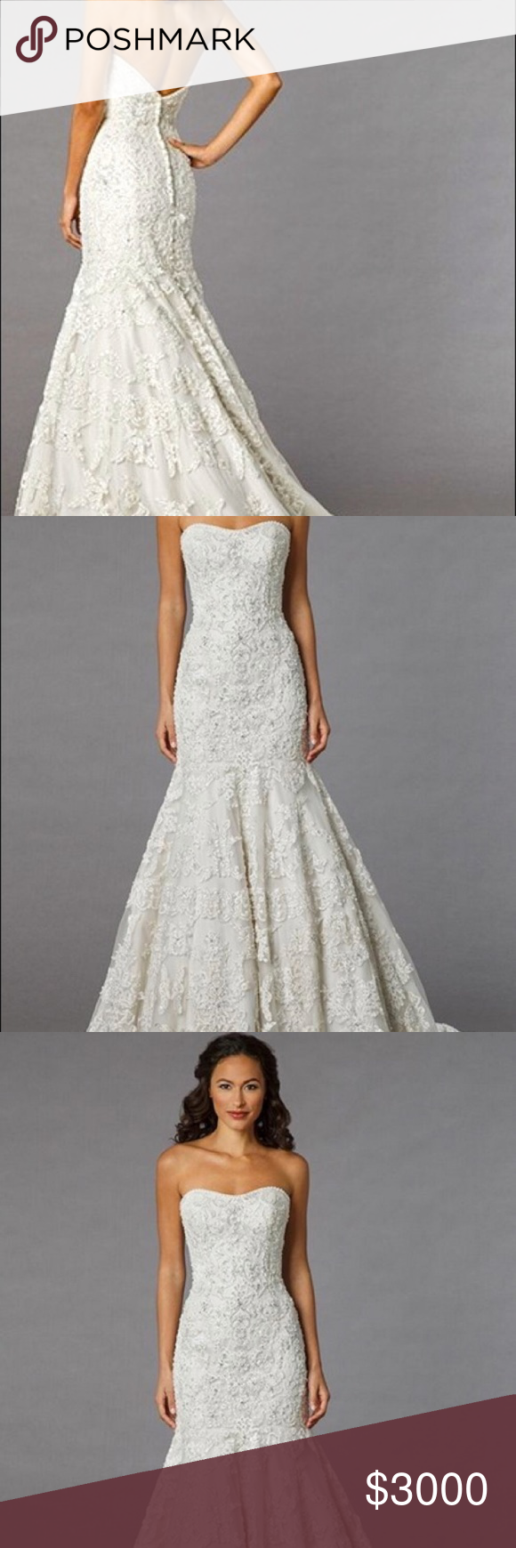 Kleinfeld danielle caprese beaded wedding dress beaded wedding