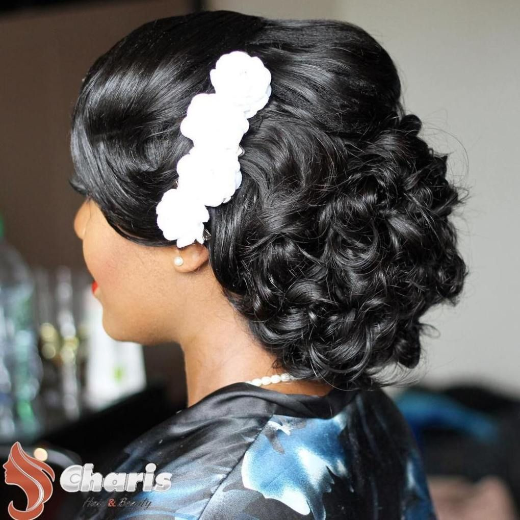 superb black wedding hairstyles updo curly and black wedding