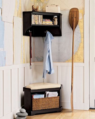 Love The Map On The Walls Would Be Cute In A Frame Diy Corner Shelf Corner Storage