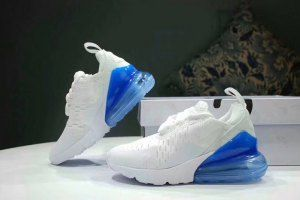 Kids Nike Air MAX 27C White blue Running Shoes  03ab884b4