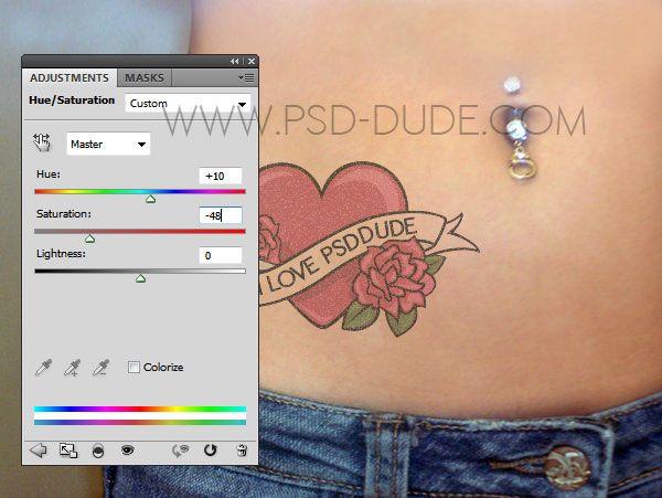 Create A Tattoo In Photoshop