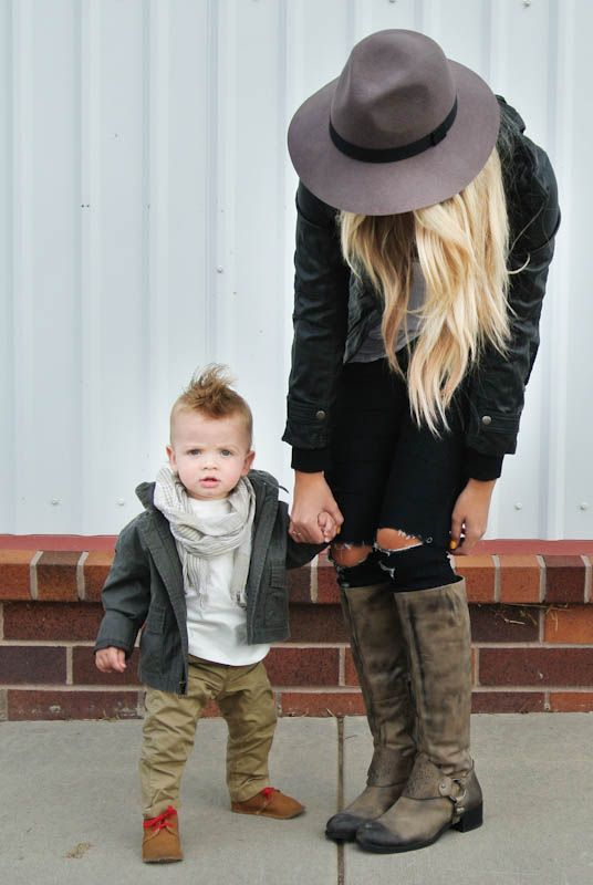 this chick has a rad fashion blog, and includes her son in most of