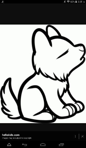 Cute Wolf Drawing Really Easy To Draw Con Imagenes Lobos Para
