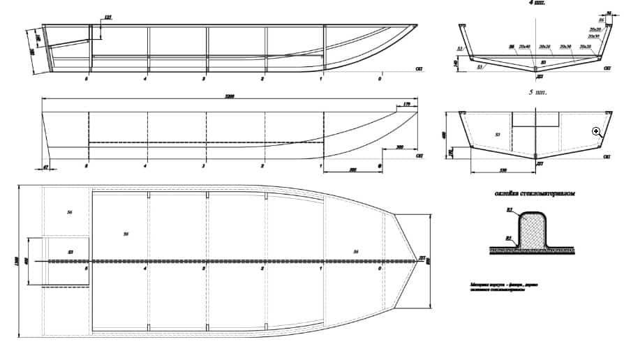 Лодка из фанеры чертежи джонбот своими руками из фанеры фото 20