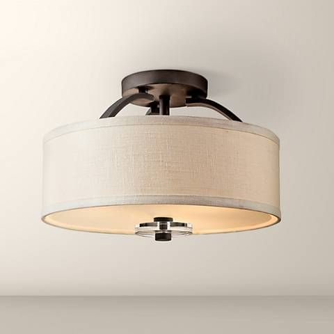 "Close To Ceiling Lights Delectable Kichler Leighton Collection 16"" Wide Ceiling Light Fixture  Ceiling Design Ideas"