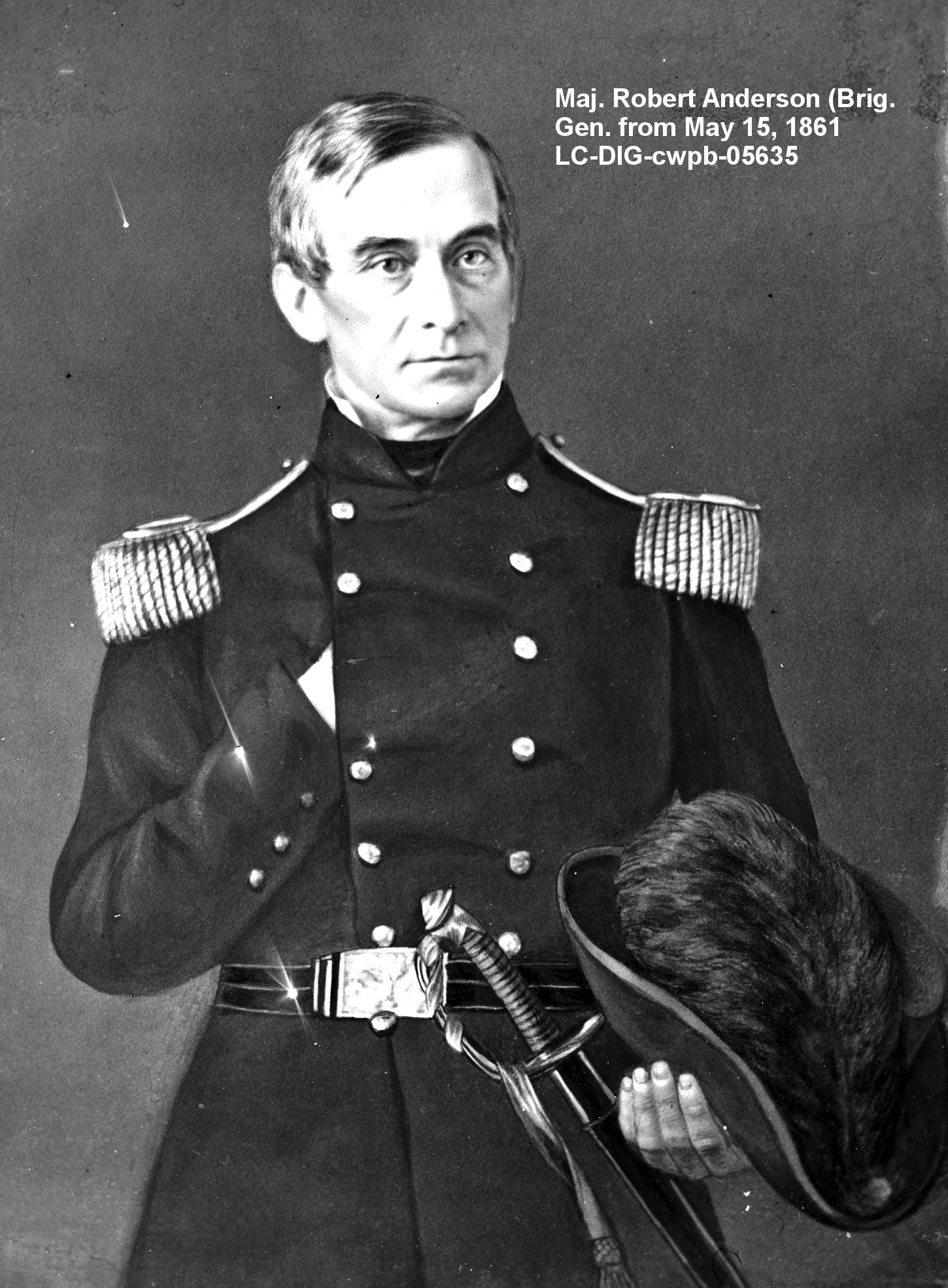 December 26, 1860, Major Robert Anderson transfers his ...