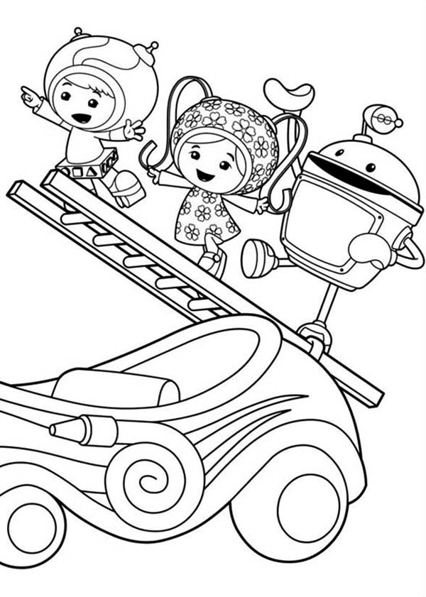 Milli And Geo With Bot Climb With Ladder In Team Umizoomi Coloring Page Color Luna In 2020 Team Umizoomi Coloring Pages Summer Coloring Pages