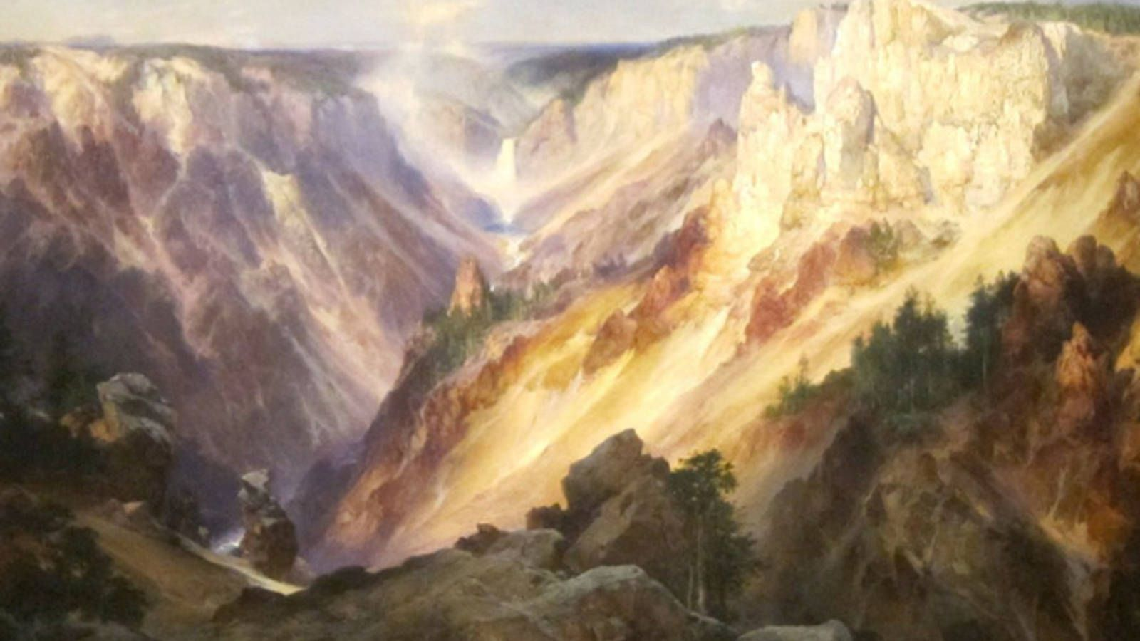 Wyoming, Cliffs of Green River, Thomas Moran 1874 | Art I Like ...
