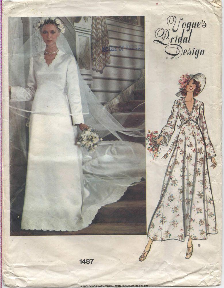 VOGUE Pattern 1487 Vogue's Bridal Design Wedding Dress