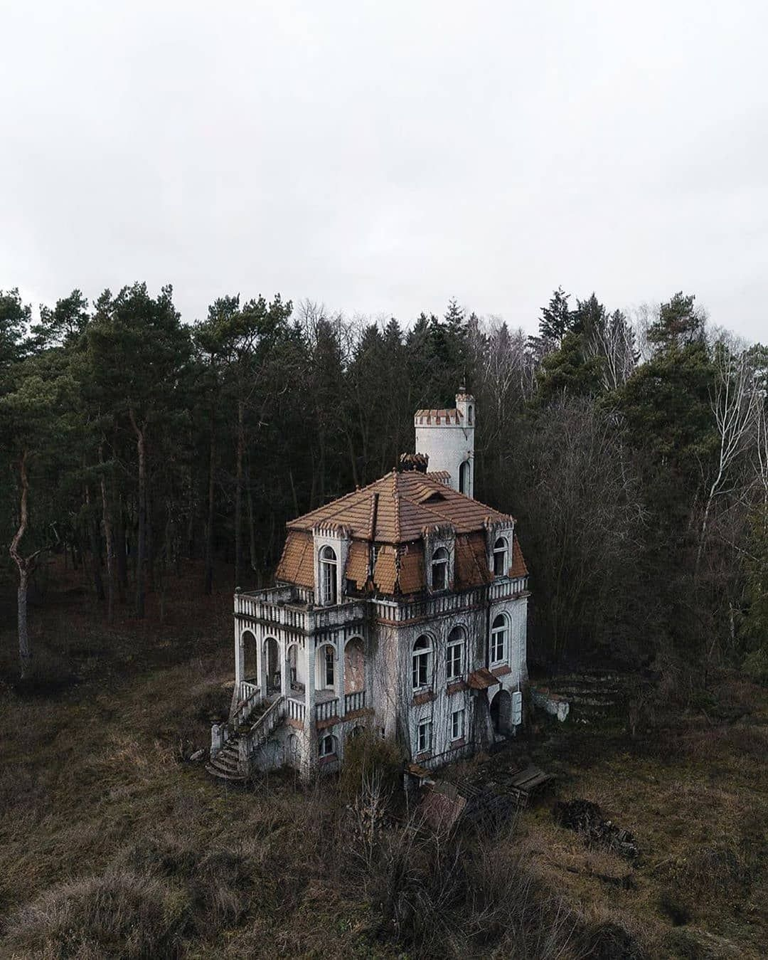"Deserted Places On Instagram: ""An Old Villa/ Chateau In"