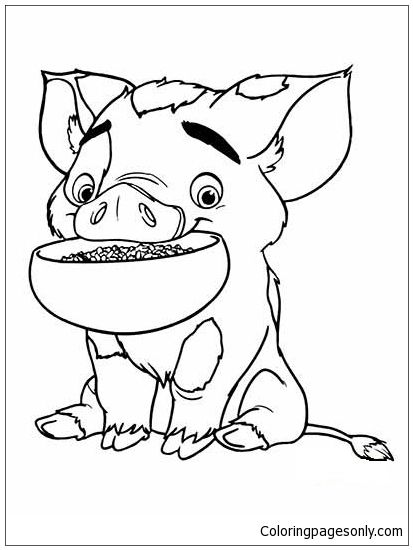 pua pig from moana 2 coloring page http