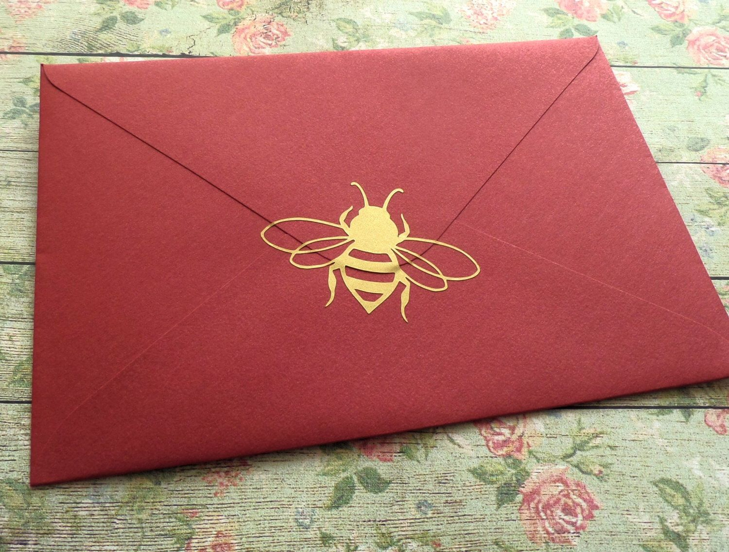 20 Bee stickers, gold Bee wall decals, removable wallpaper, Honey ...