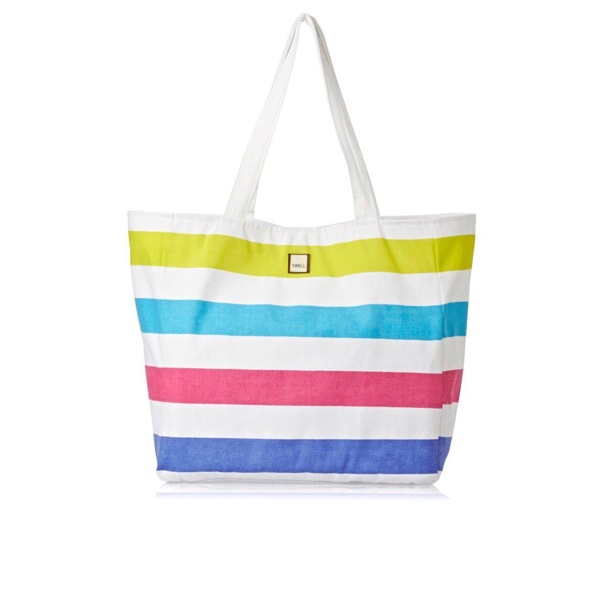 SWELL Beach Bags - SWELL Bondi Beach Beach Bag - Bright Stripe ...