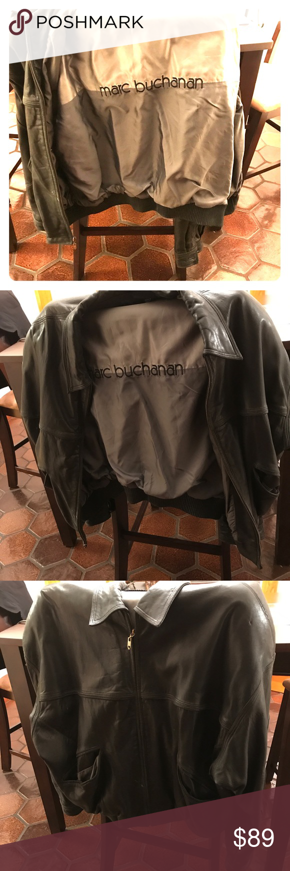 Marc Buchanan Leather Jacket (preowned) People have